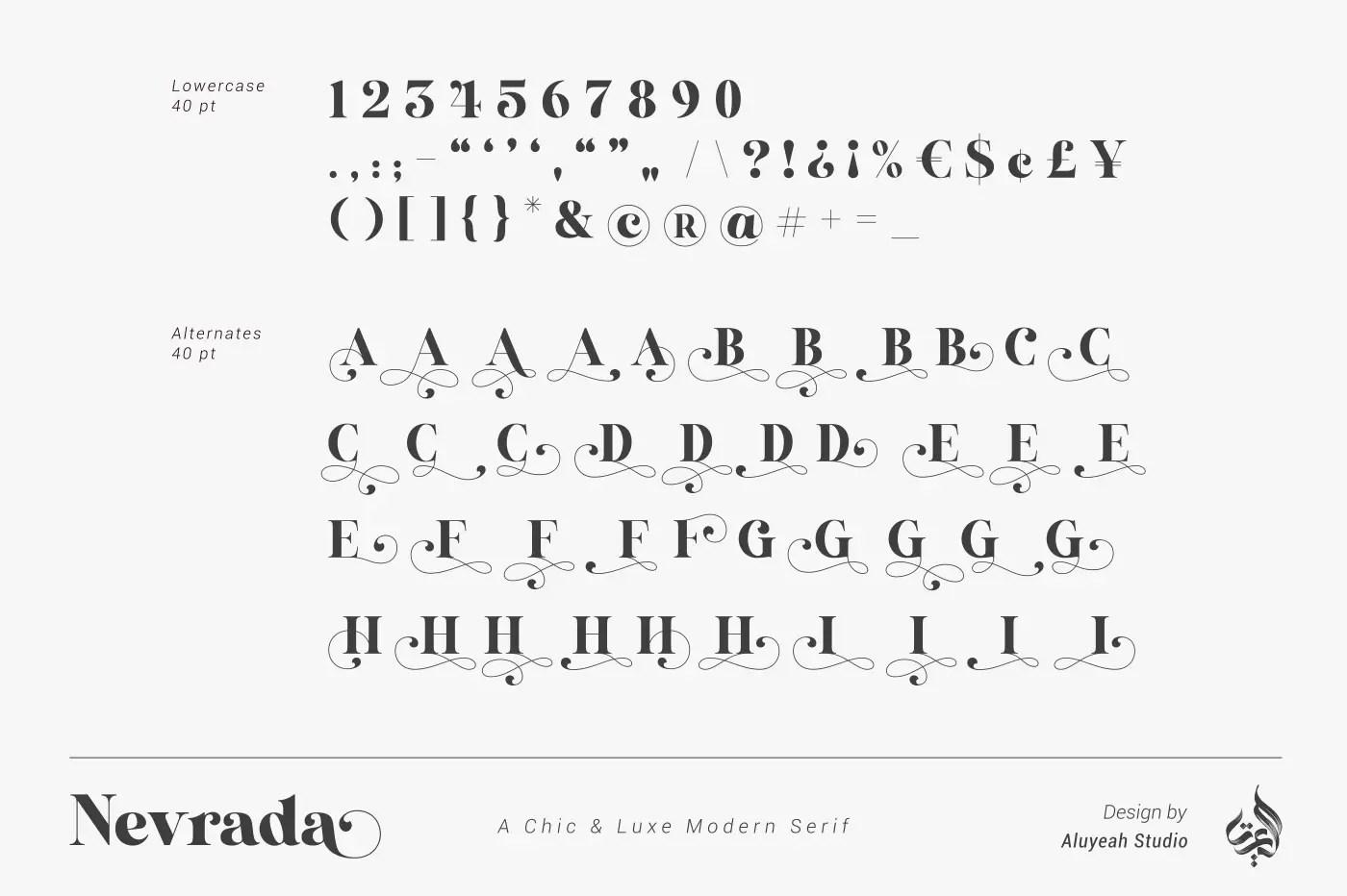 Nevrada Modern Chic Luxury Serif Font-3