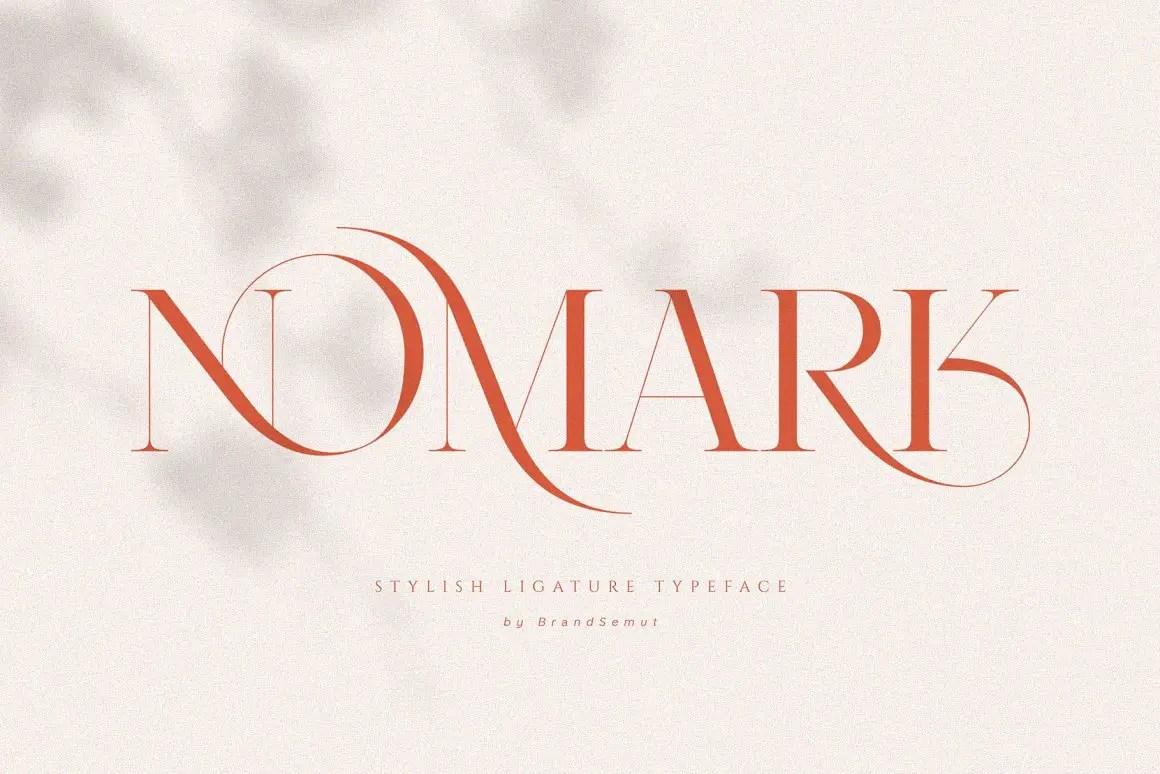 Nomark Ligature Serif Typeface-1