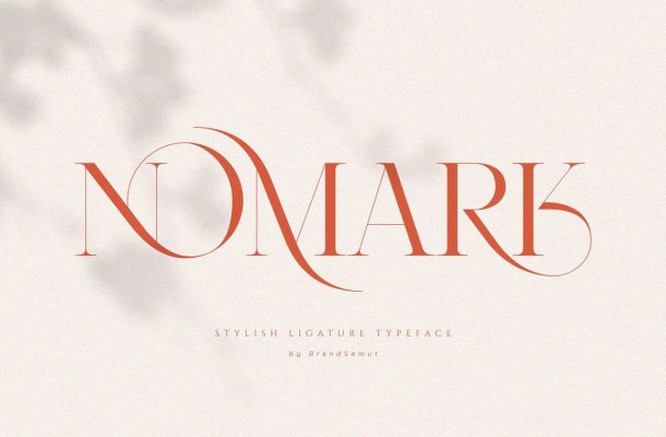 Nomark Ligature Serif Typeface