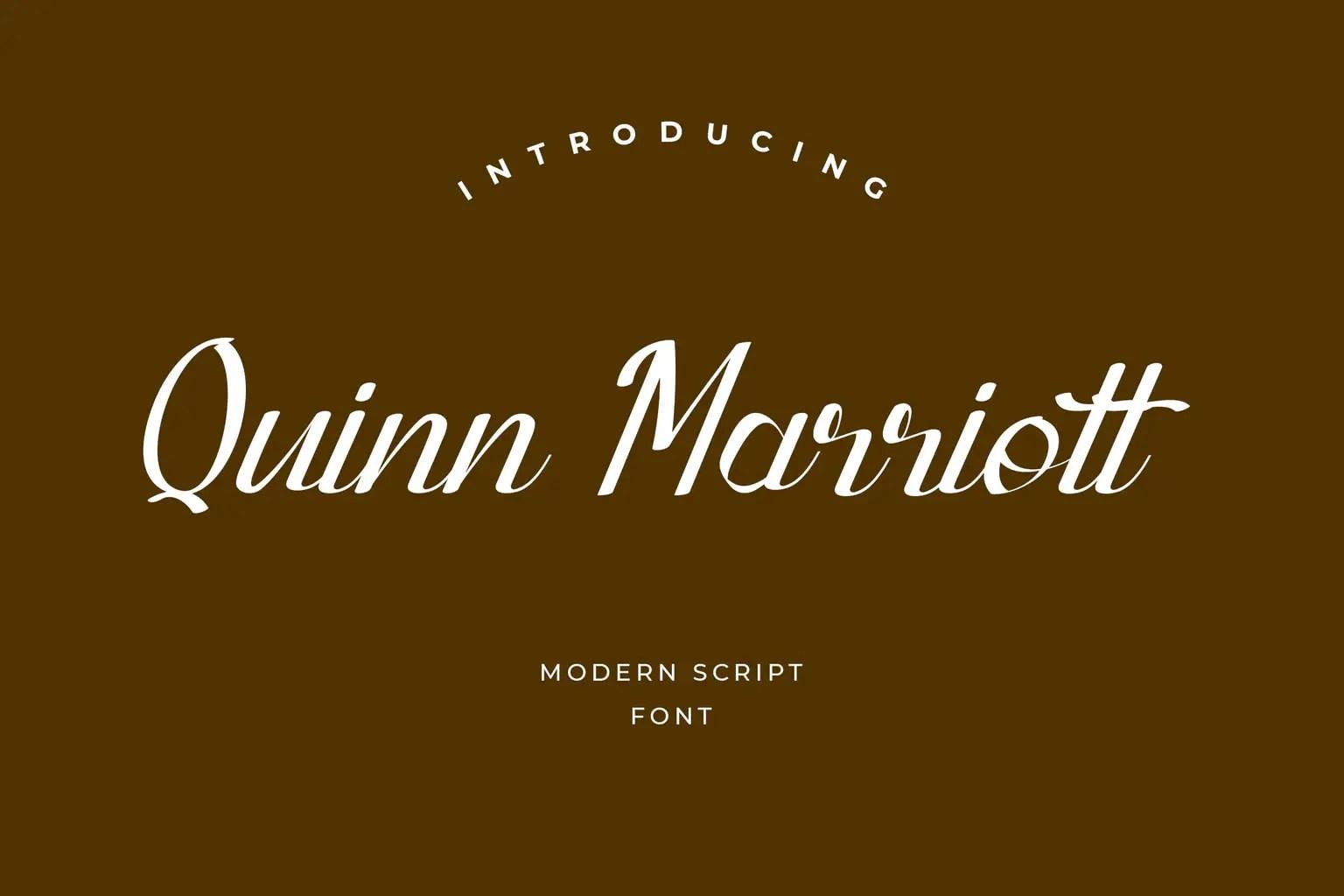 Quinn Marriott Script Font-1