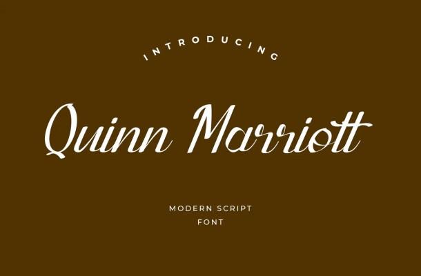 Quinn Marriott Script Font