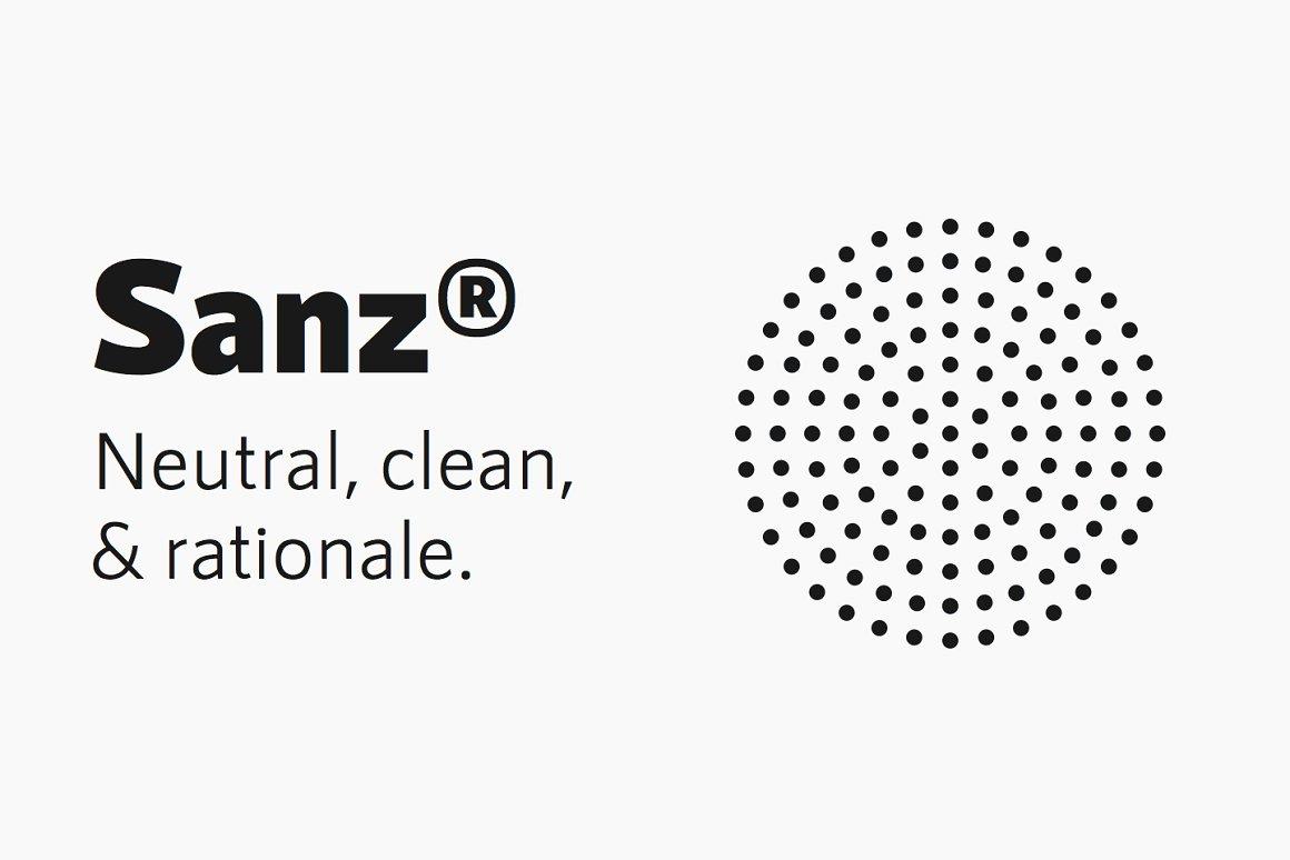 RNS Sanz Clean Sans Serif Font Family-1
