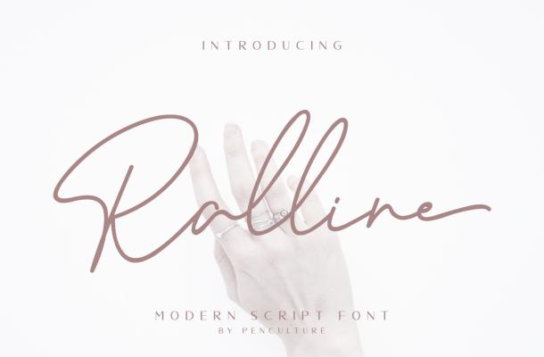 Ralline Modern Script Handwritten Font