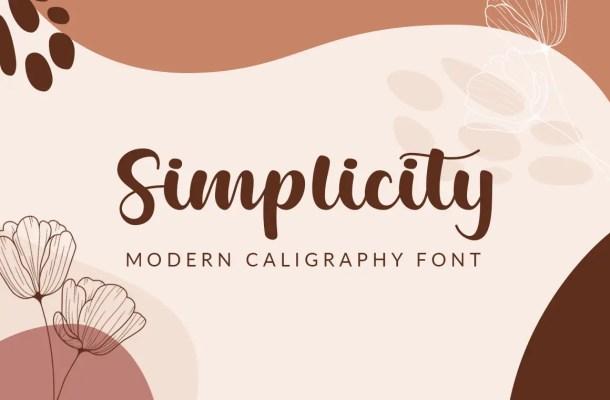 Simplicity Calligraphy Script Font