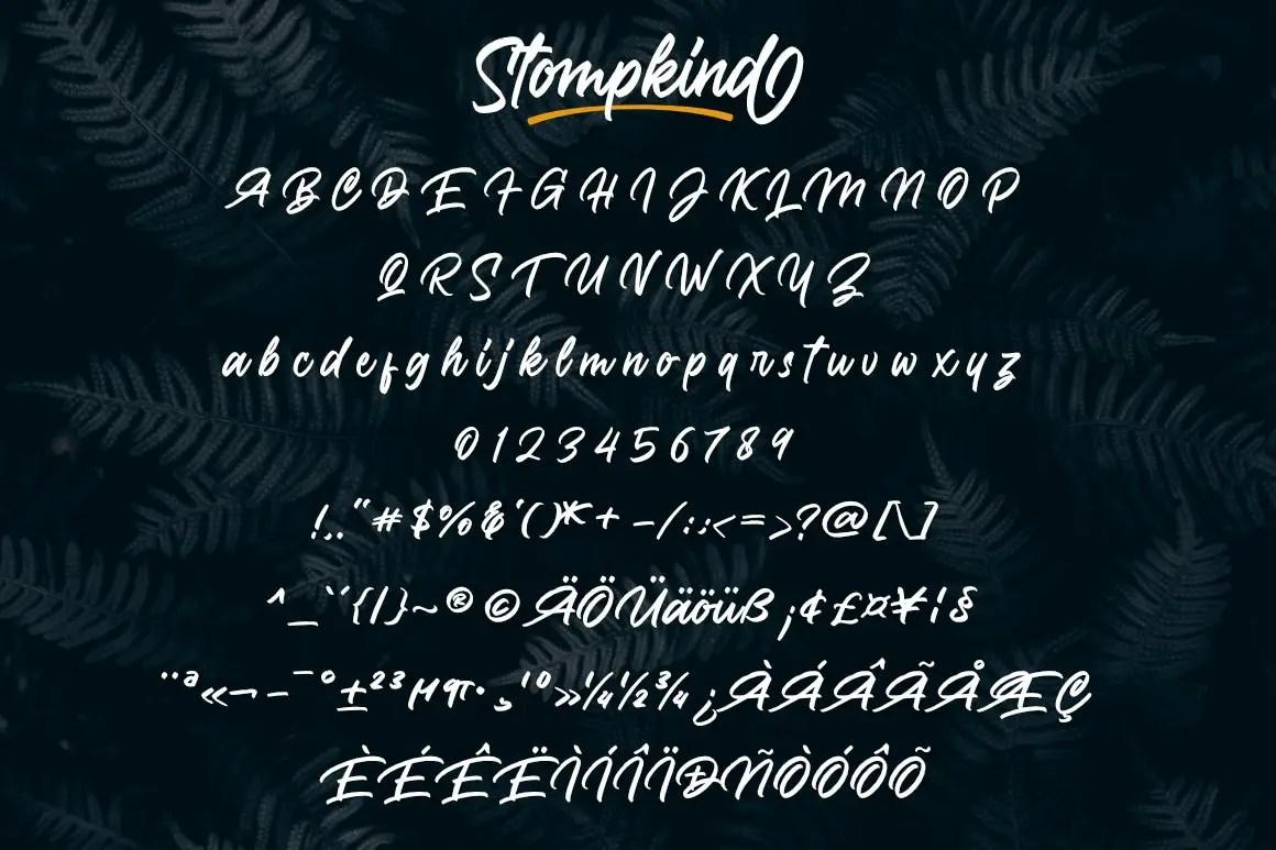 Stompkind Calligraphy Script Font-3