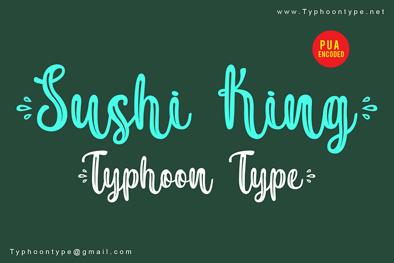 Sushi King Script Various Font-1