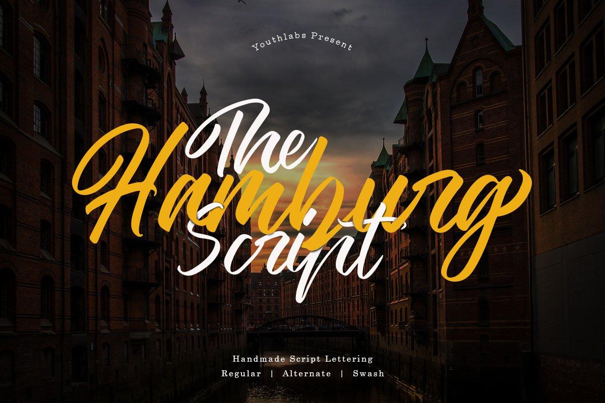 The Hamburg Script Calligraphy Font-1