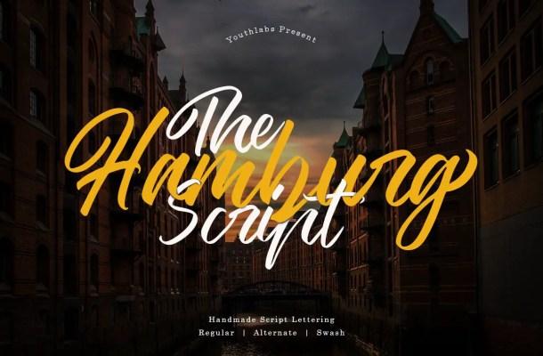 The Hamburg Script Calligraphy Font