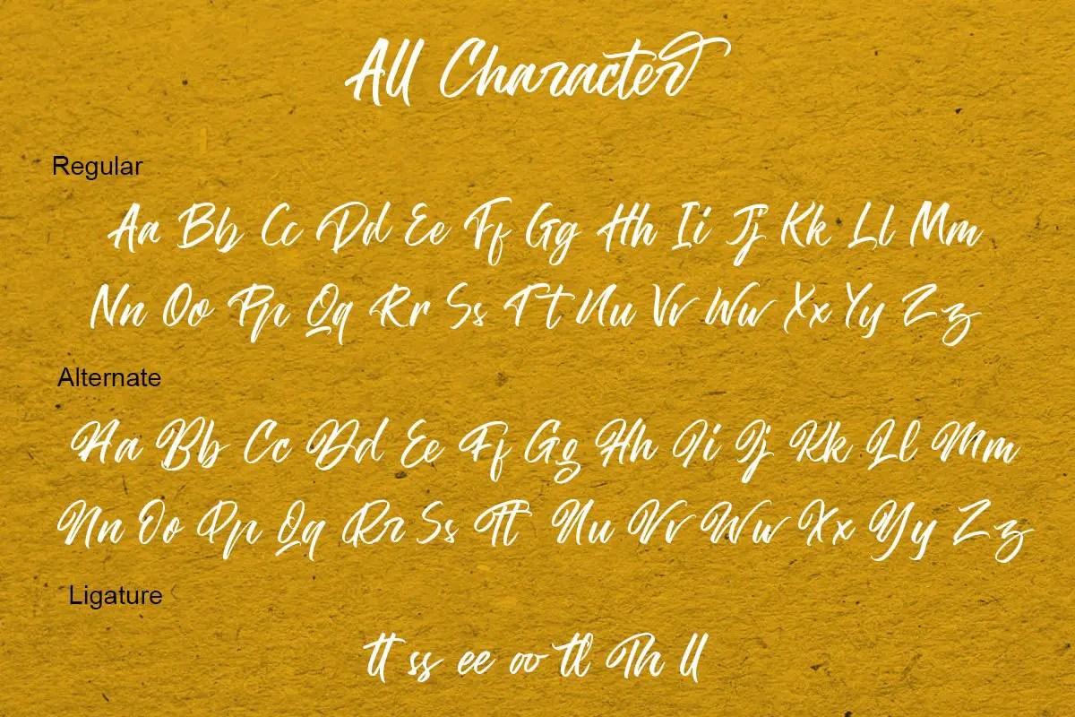 The Hamburg Script Calligraphy Font-3