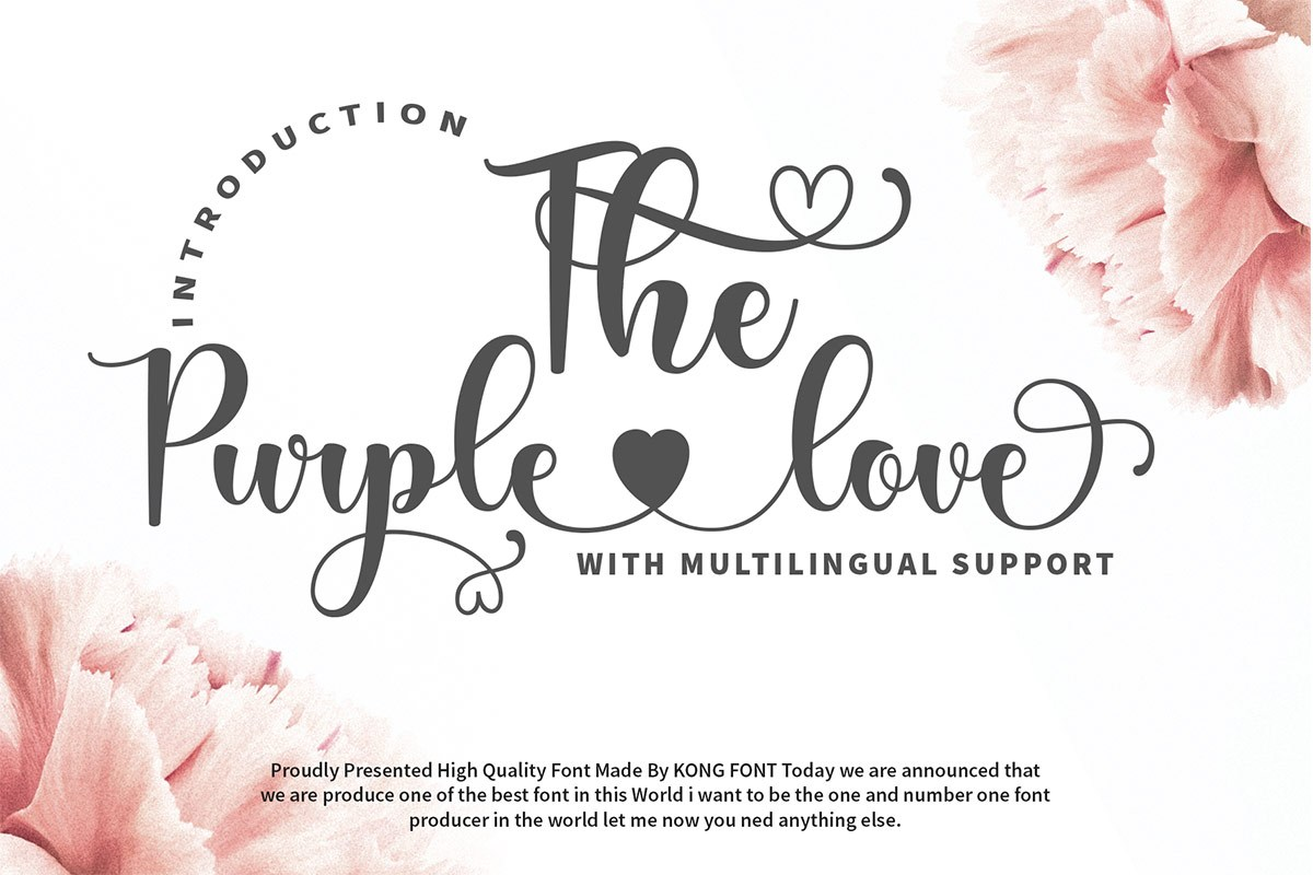 The Purple Love Script Calligraphy Font-1