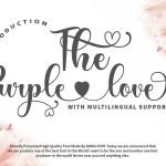 The Purple Love Script Calligraphy Font