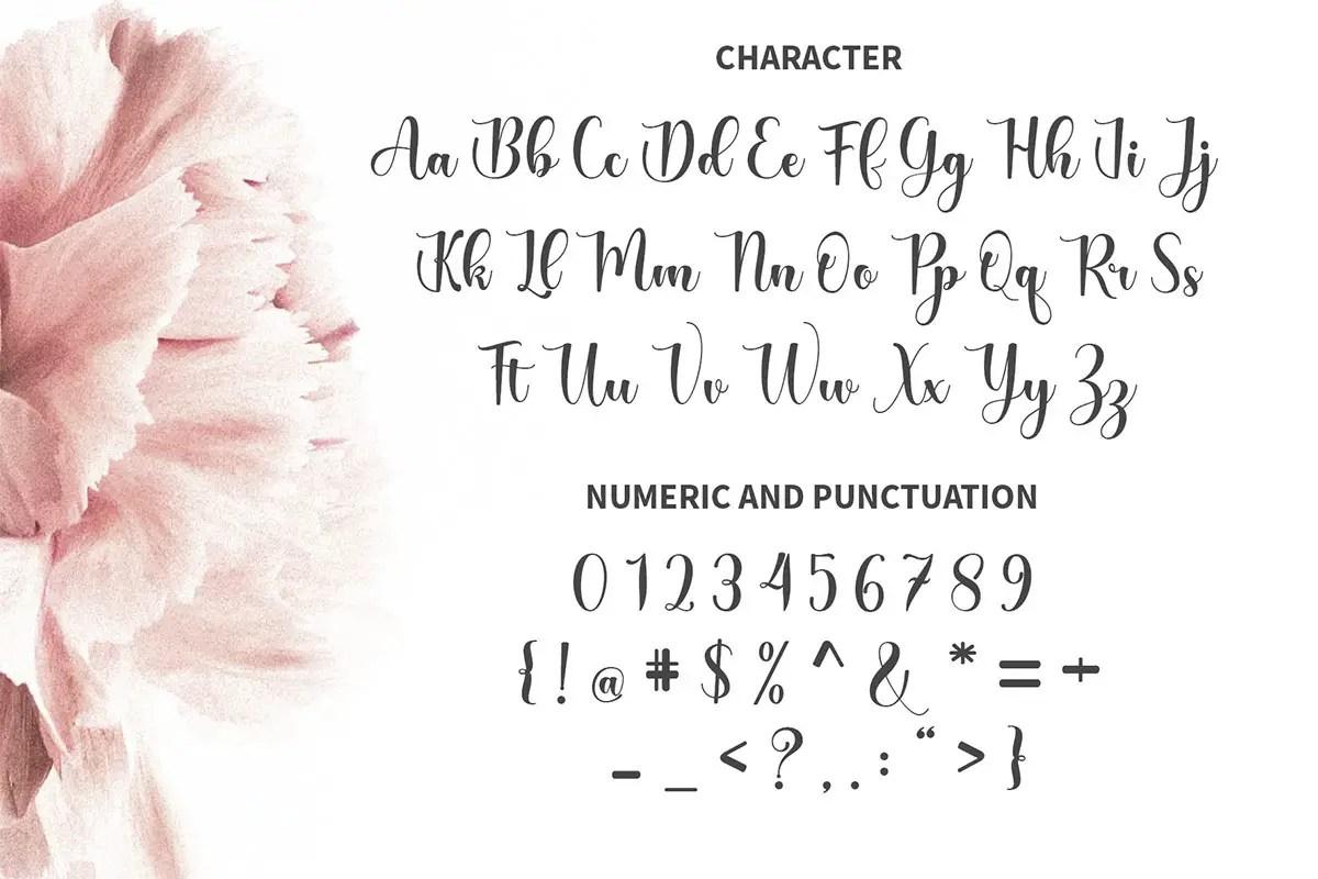 The Purple Love Script Calligraphy Font-3