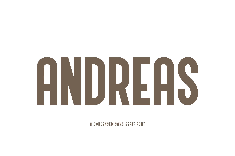 Andreas Condensed Sans Serif Font-1