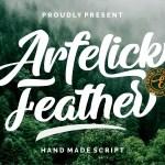 Arfelick Feather Handmade Script Font