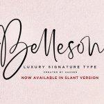 Belleson Luxury Script Font