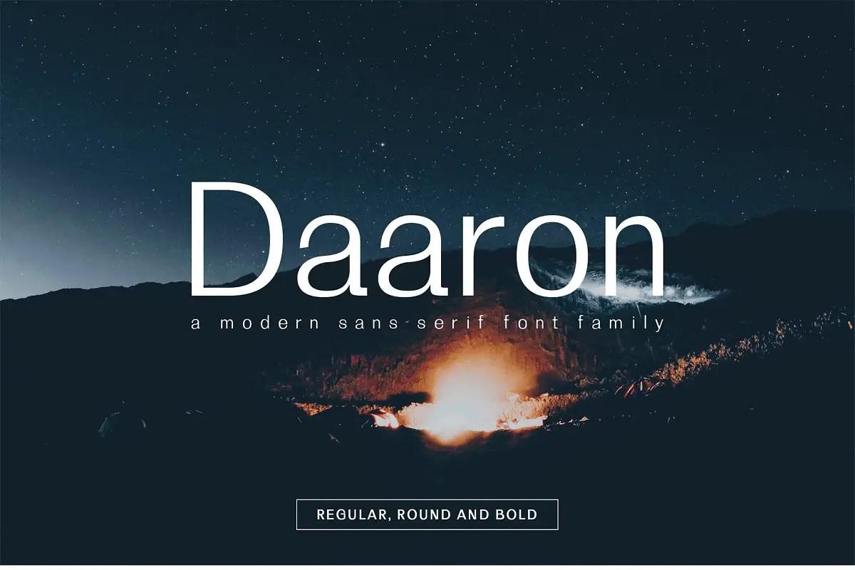 Daaron Sans Serif Font Family-1