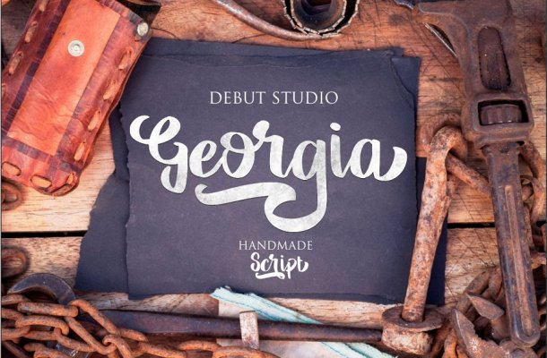 Georgia Script Brush Font