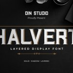 Halvert Layered Display Font