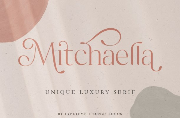 Mitchaella Unique Luxury Serif Typeface