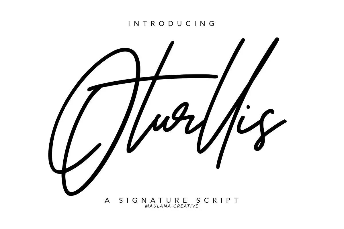 Oturllis Signature Script Font-1