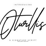 Oturllis Signature Script Font