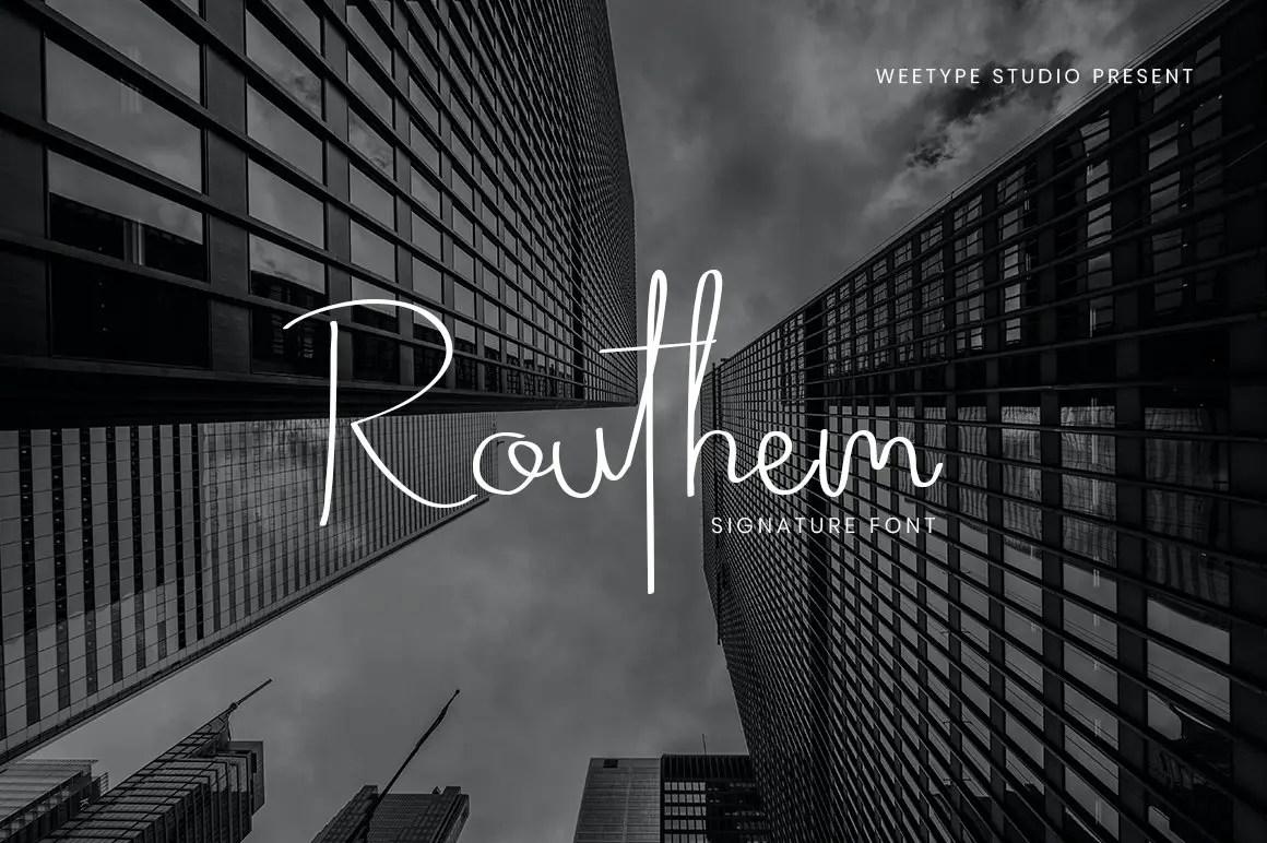 Routhem Handwritten Signature Font-1