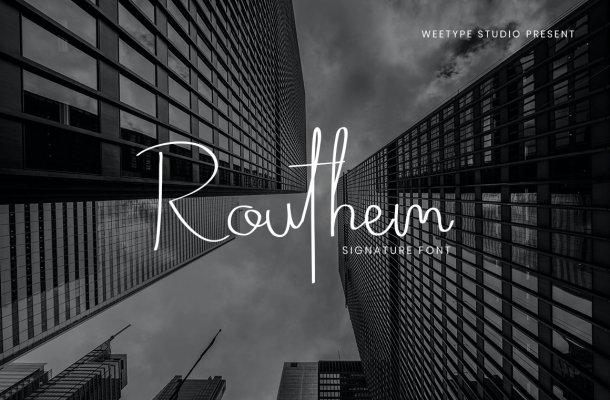 Routhem Handwritten Signature Font