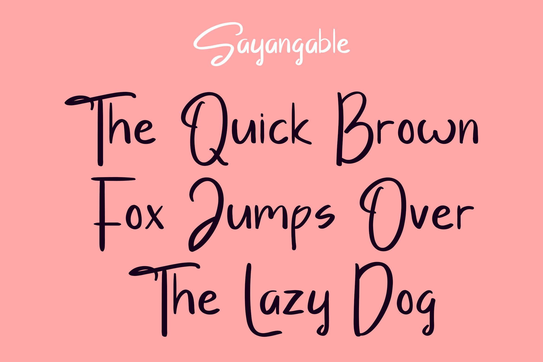 Sayangable Hand drawn Font-2
