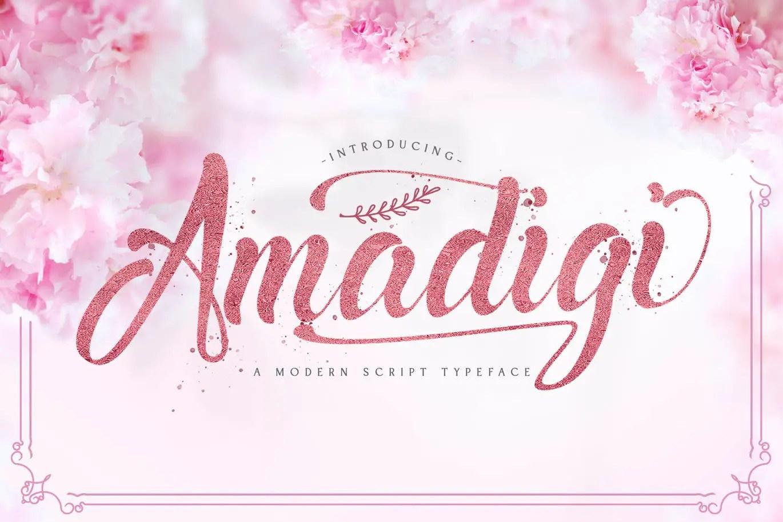 Amadigi Calligraphy Script Typeface-1