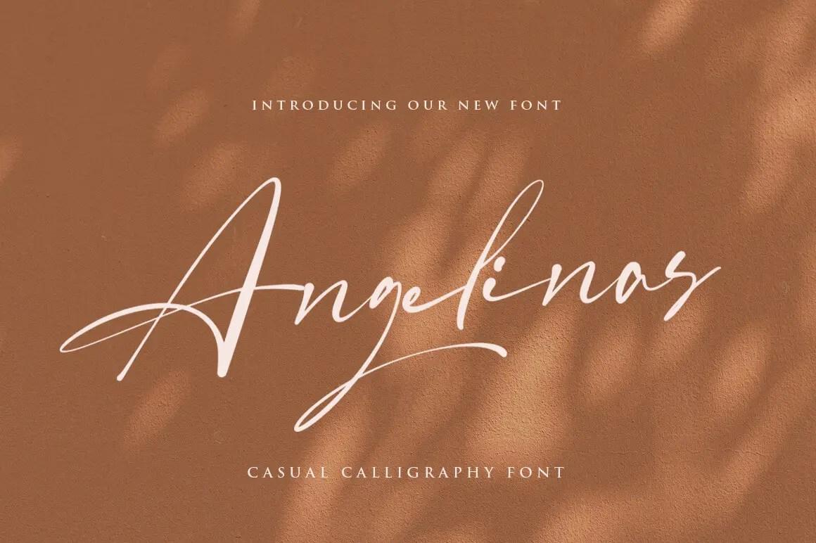 Angelinas Calligraphy Font-1