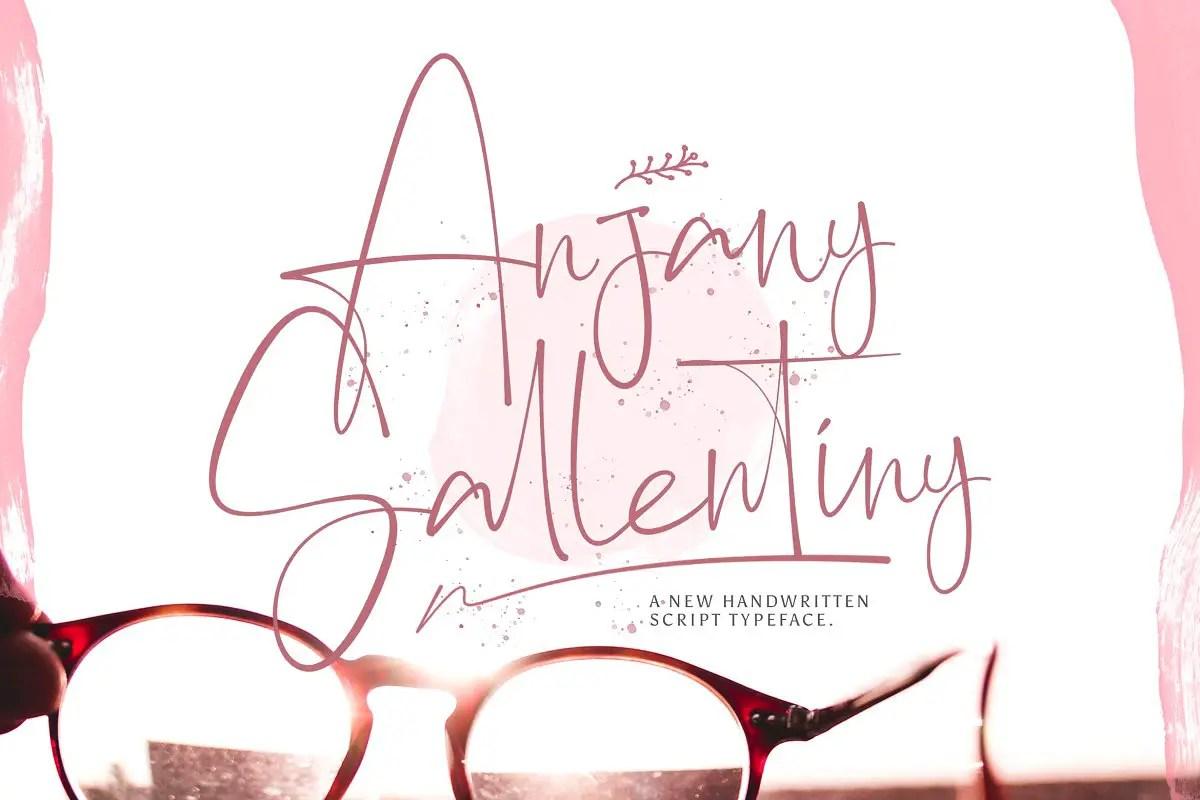 Anjany Sallentiny Handwritten Font-1