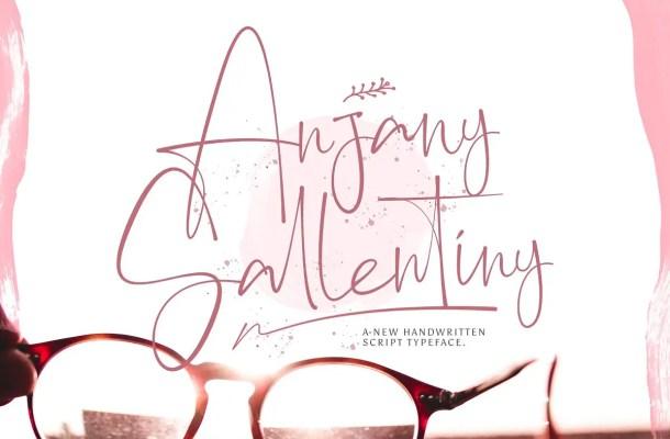 Anjany Sallentiny Font