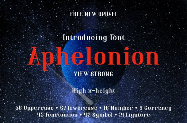 Aphelonion Font