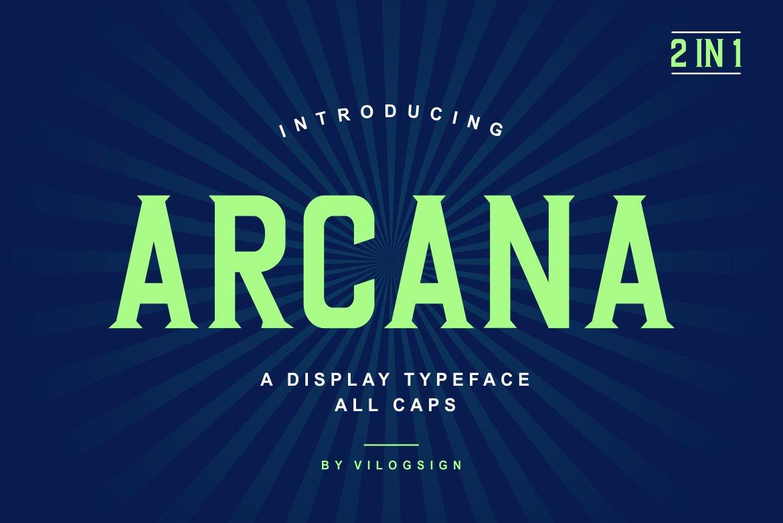 Arcana a Modern Display Typeface-1