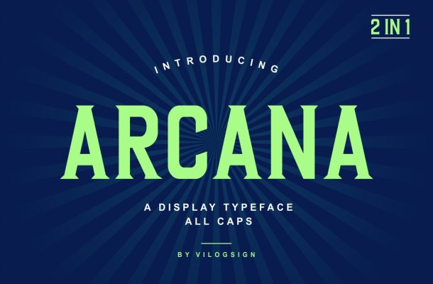Arcana Typeface