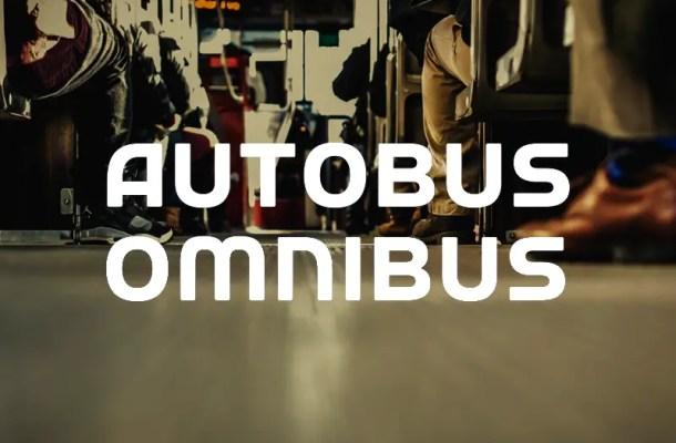 Autobus Omnibus Font