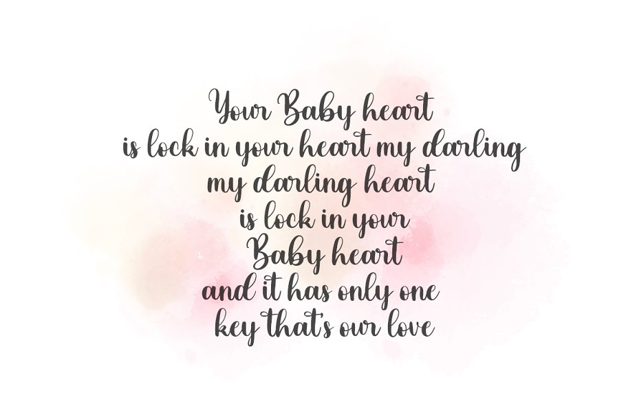 Baby Darling Calligraphy Font-2