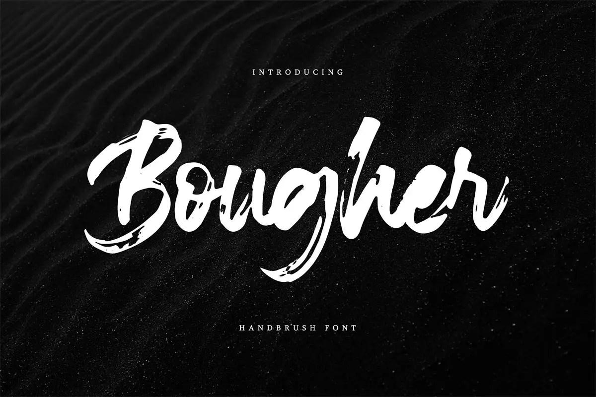 Bougher Script Brush Font-1