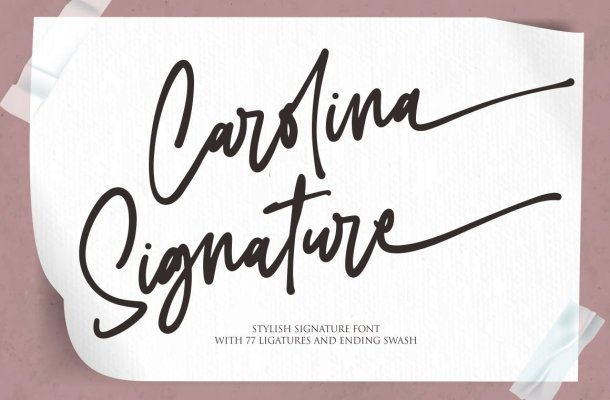 Carolina Signature Font