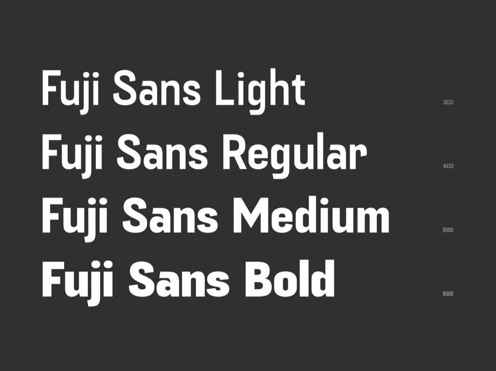 Fuji Sans Font Family-2