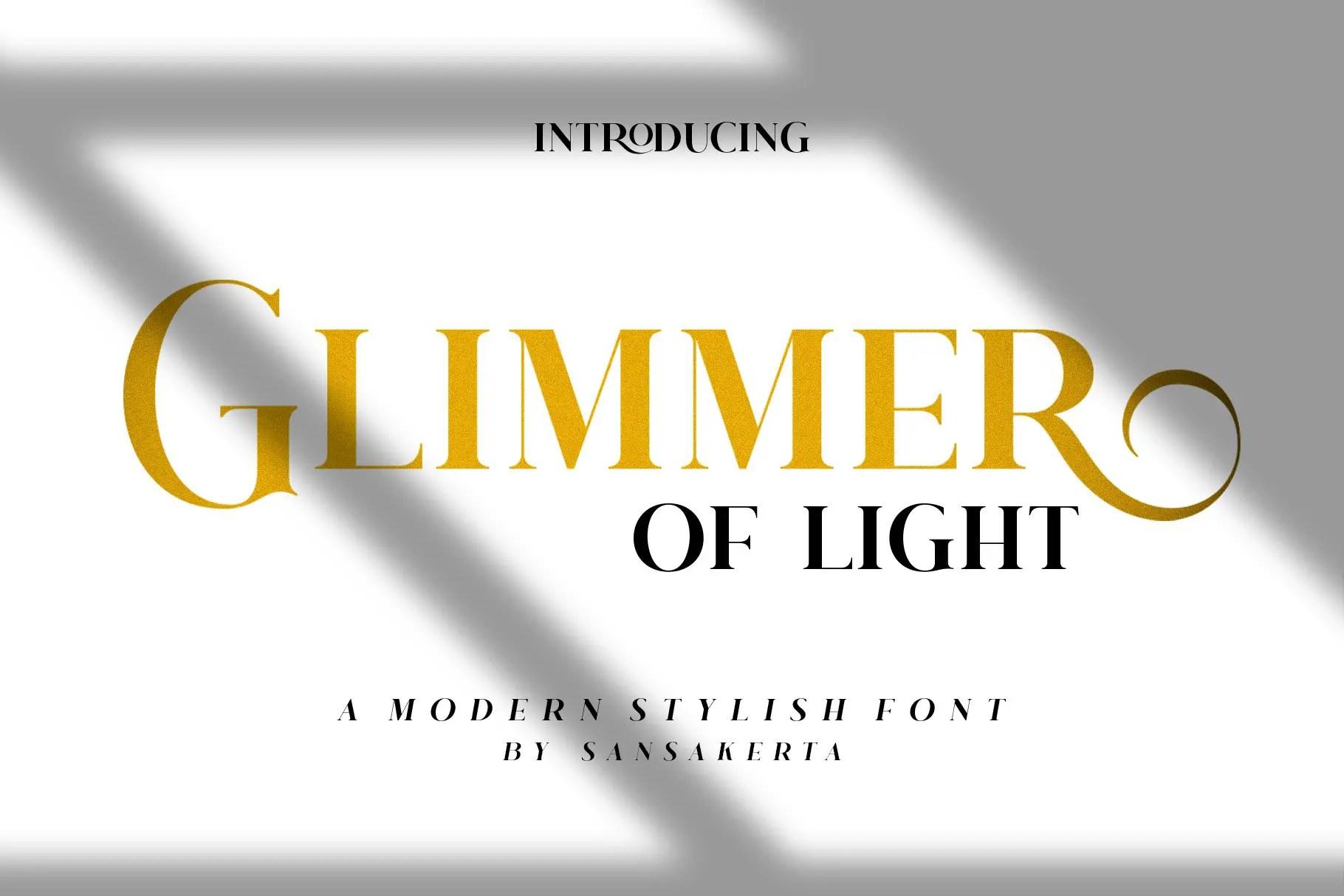 Glimmer Of Light Serif Font-1