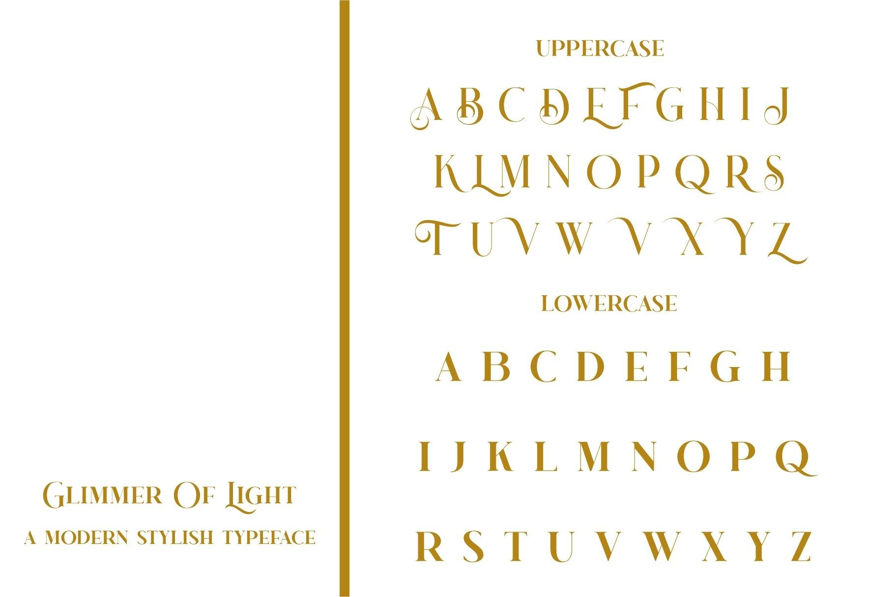 Glimmer Of Light Serif Font-2