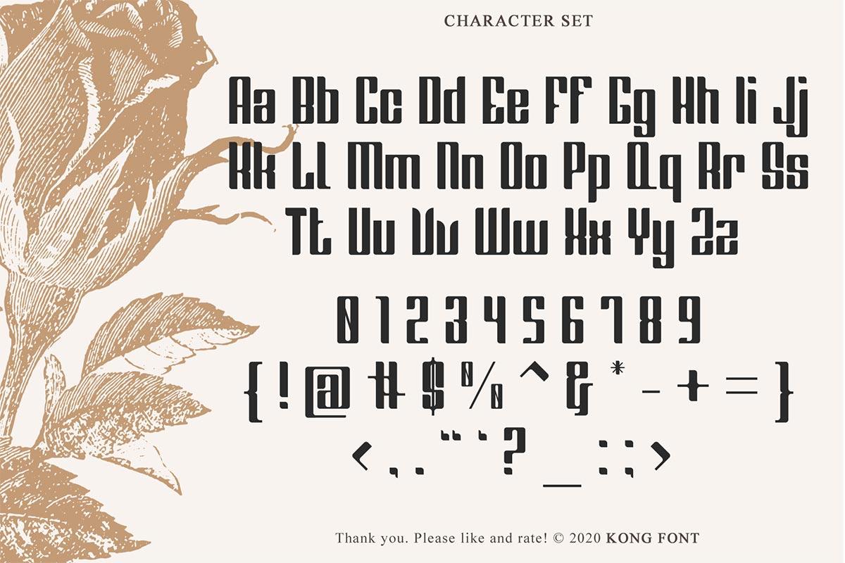 Greenleaf Fancy Font-2