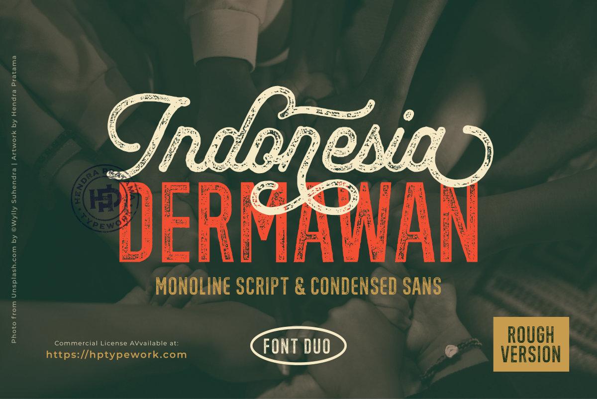 Indonesia Dermawan Rough Font Duo-1