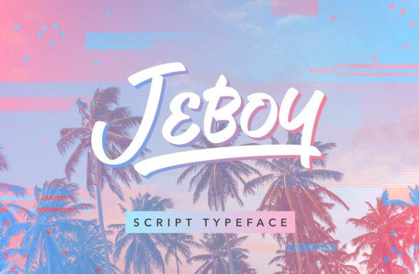 Jeboy Script Typeface