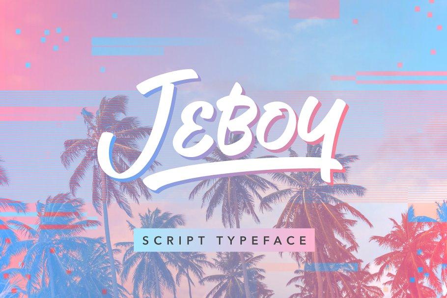 Jeboy Script Typeface-1
