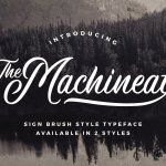 Machineat Brush Style Typeface