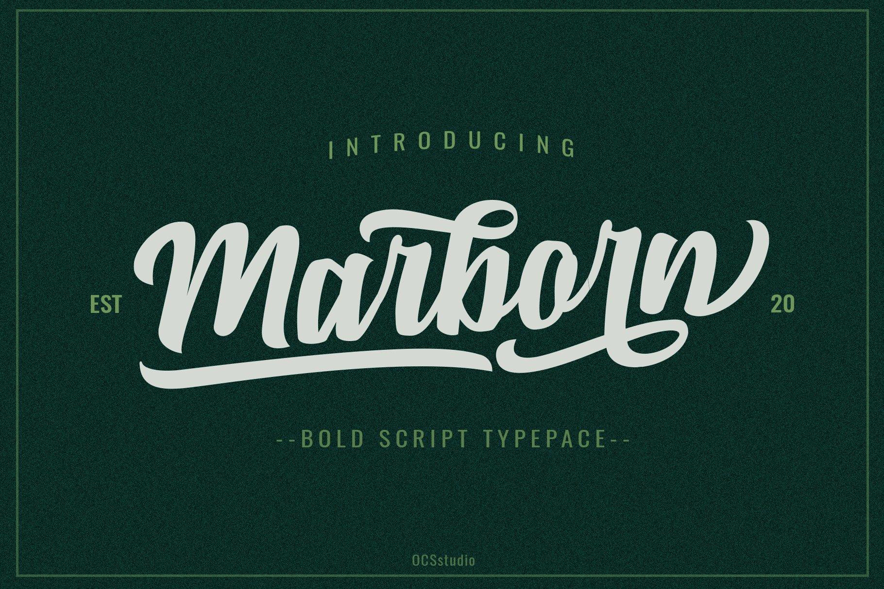 Marborn Bold Script Typeface-1