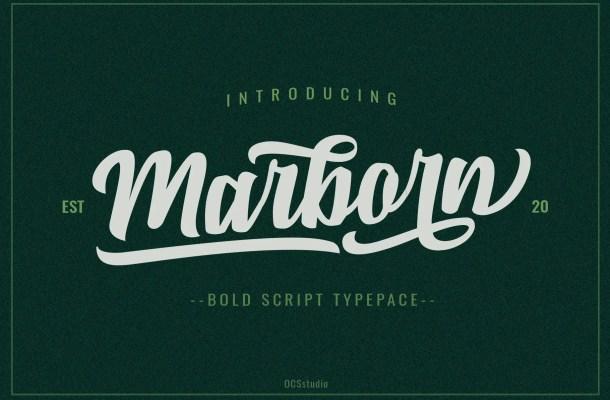 Marborn Bold Script Typeface