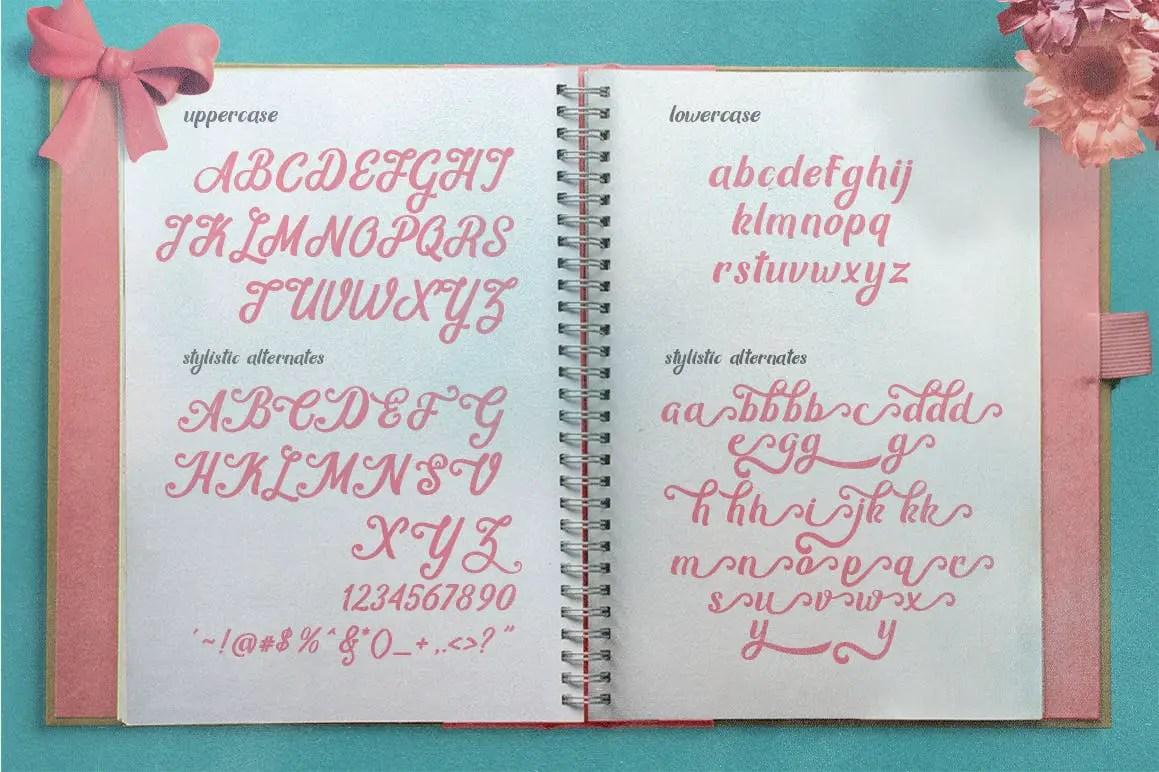 Mon Cheri Script Typeface-3